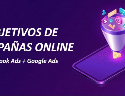 OBJETIVOS DE CAMPAÑAS ONLINE / FACEBOOK ADS + GOOGLE ADS / ESQUEMA BASE